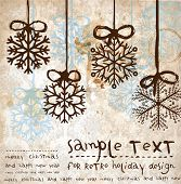 Christmas vintage background for xmas design