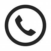 Call Icon Simple Vector Sign And Modern Symbol. Call Vector Icon Illustration, Editable Stroke Eleme poster