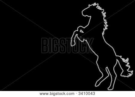 Glowing Rampant Horse