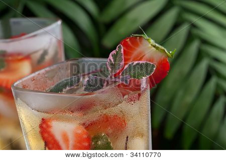 Strawberry Sage Iced Tea
