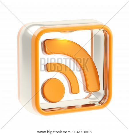 RSS application icon emblem isolated