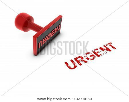 Stamp With Urgent In Red Ink
