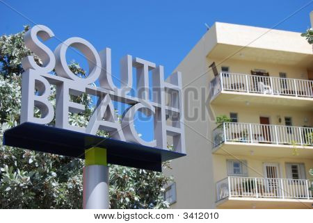 Miami Beach Signage And Vintage Condo