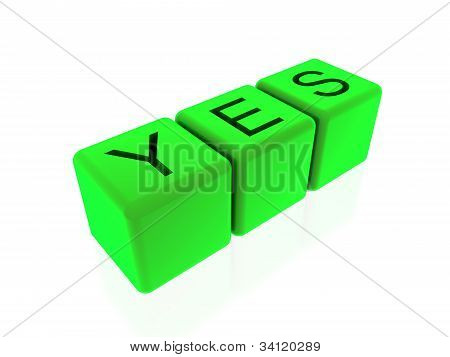 Yes On Green Cubes