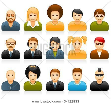 Glossy People Avatar Icons