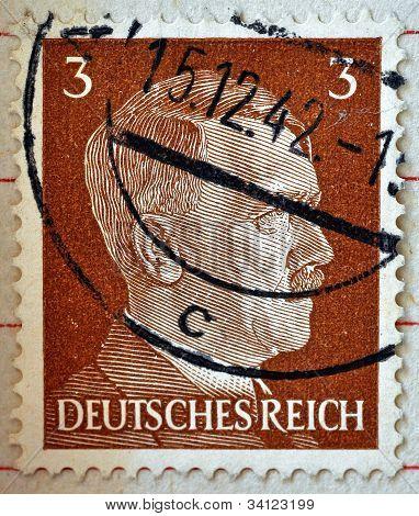 Adolf Hitler On A Stamp