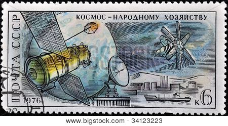 Russian Stamp Shows A Spaceship