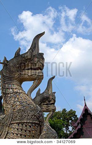 Two Bird Creatures Sculpture