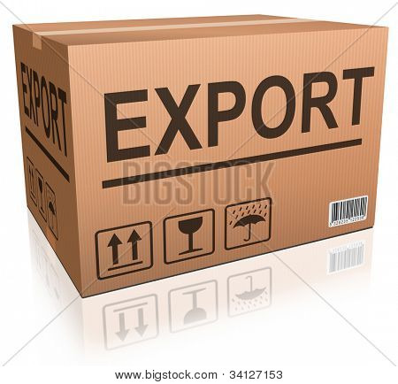 export cardboard box freight transportation international trade import and exportation worldwide business