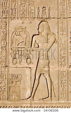 Ancient Egyptian priest for Ra and Ka Gods