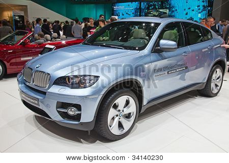 GENEVA - MARCH 8: The BMW X6 on display at the 81st International Motor Show Palexpo-Geneva on March 8; 2011 in Geneva, Switzerland.