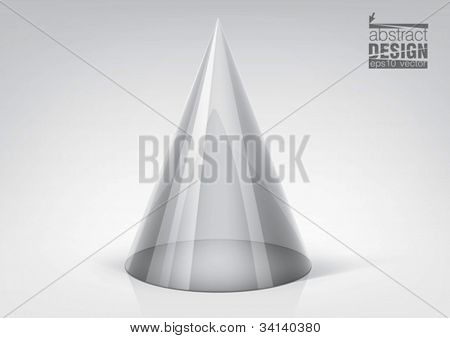 Vector transparent cone for your graphic design, you can change colors for the background