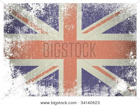 British flag with grunge aged effect ideal background