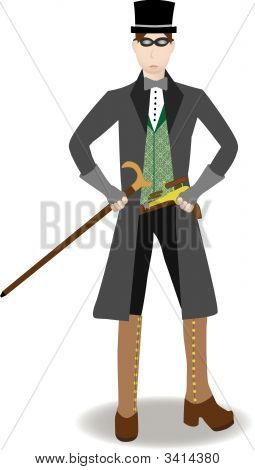 Steampunk Man Isolated Vector