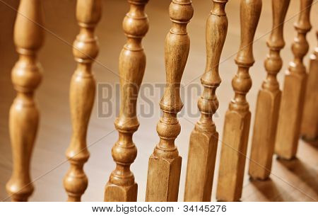 Old Wooden Balusters