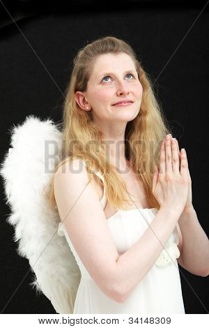 Beautiful Angel Praying To Heaven