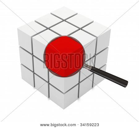 3d illustration of cube structure