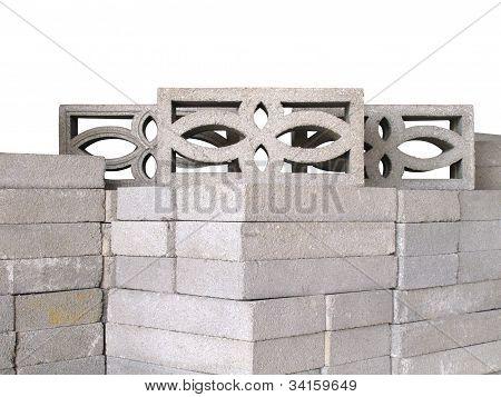 Stack Of Concrete Ventilation Blocks