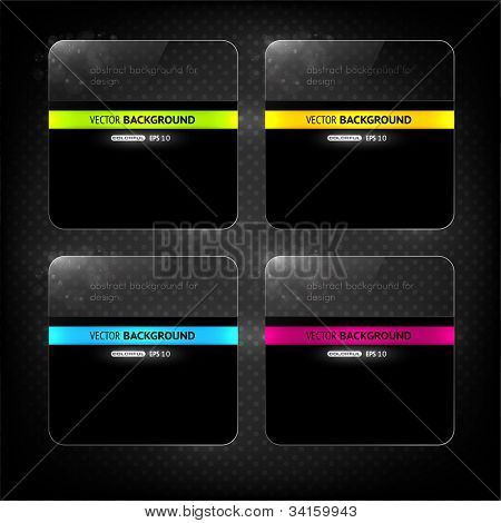 Glossy vector banners set for web design