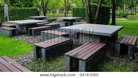 Mable Table In Public Park