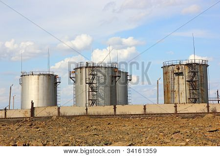 Old Oil Storage Tank
