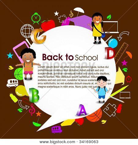 Regresar al fondo de la escuela. EPS 10.
