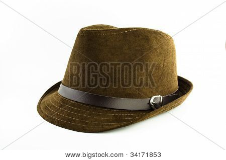 Brown Flannel Hat
