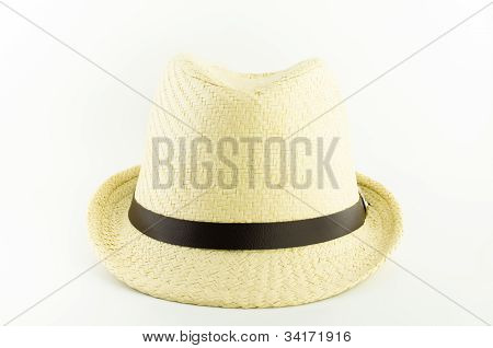 White Weaving Hat