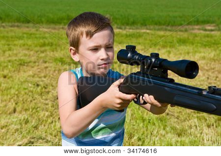 Young Boy Shooting