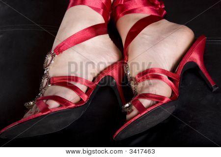 Sexy pés de mulher