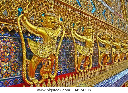 Golden Garuda or Krut in Wat Phra Kaeo , Bangkok