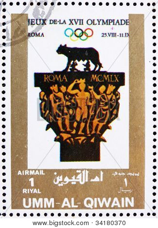 Postage stamp Umm al-Quwain 1972 Rome 1960, Olympic Games of the