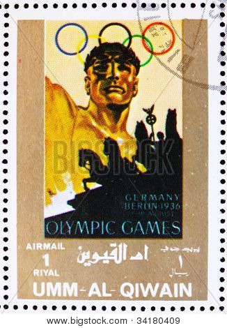 Postage stamp Umm al-Quwain 1972 Berlin 1936, Olympic Games of t