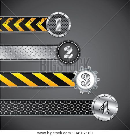 Metallic Industrial Gradation Labels
