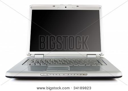 Silver Laptop  With Black Screen