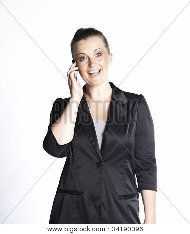 Happy Woman Phoning