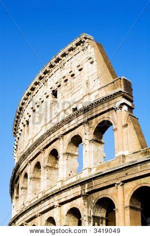 Colosseum Rome Blue Sky