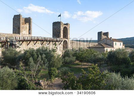 Castle of Monteriggioni, Tuscany.