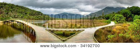 Footbridge at Tidal River, Wilsons promontory