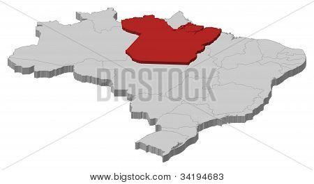 Map Of Brazil, Pará Highlighted