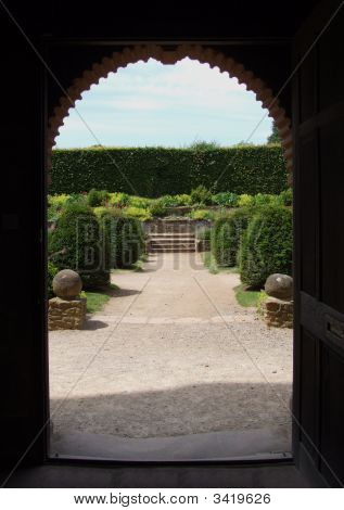 Doorway Landscaped Garden