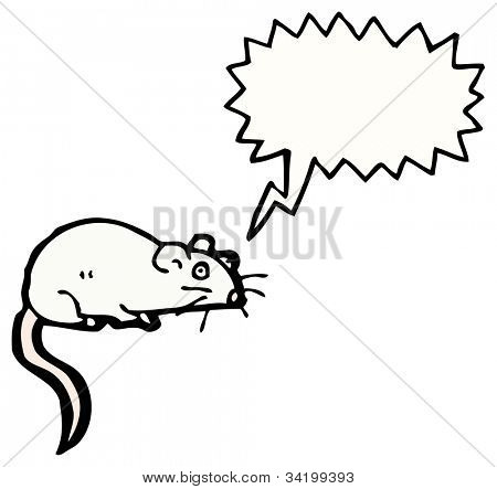 cartoon squeaking white rat