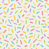 Seamless Colourful Sprinkles Repeat Pattern On A Light Background, Birthday Celebration Theme poster