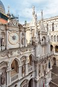 Doge`s Palace Or Palazzo Ducale, Venice, Italy. It Is Famous Landmark Of Venice. Nice Ornate Facade  poster