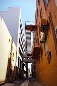 stock photo of boise  - Downtown urban alley way in Boise Idaho - JPG