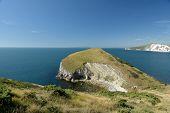 Worbarrow Bay And Worbarrow Tout, Cliffs And Sea Near Tyneham, Dorset On The South Coast poster