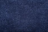 Carpet Covering Background. Pattern And Texture Of Blue Color Carpet. Copy Space poster
