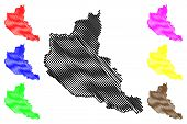 Anseba Region (horn Of Africa, State Of Eritrea, Regions Of Eritrea) Map Vector Illustration, Scribb poster