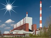 Постер, плакат: Электростанция Промышленное производство Панорама
