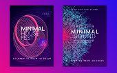 Dj Flyer. Energy Concert Invitation Set. Dynamic Fluid Shape And Line. Neon Dj Flyer. Electro Dance  poster